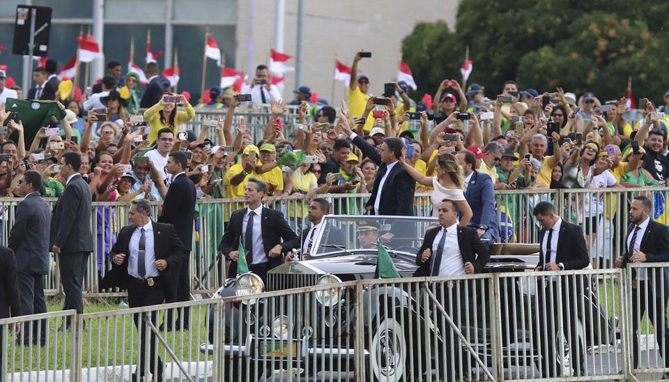 Presidente eleito Jair Bolsonaro chega ao Congresso Nacional para a solenidade de posse