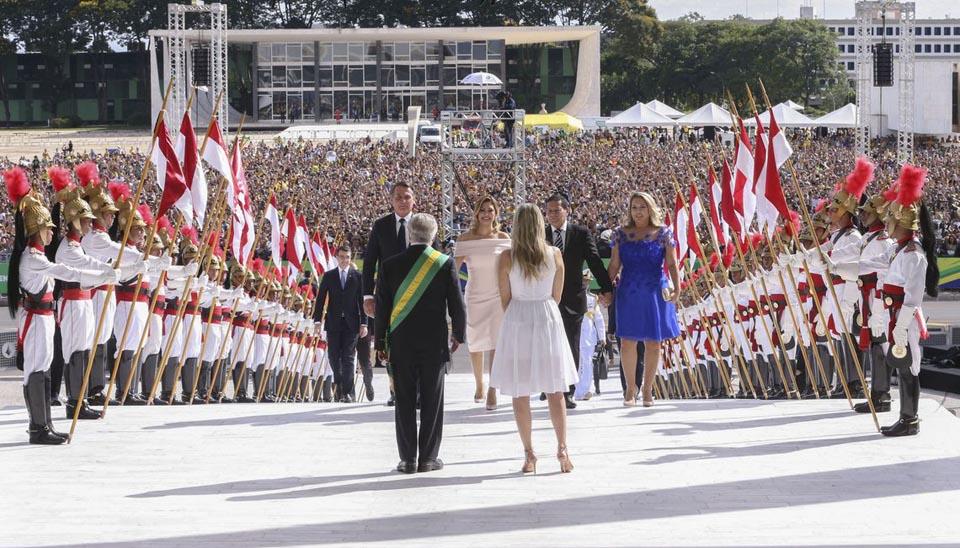 Michel Temer e Marcela Temer recebem o presidente Jair Bolsonaro no Palácio do Planalto, para cerimônia de transmissão da Faixa Presidencial