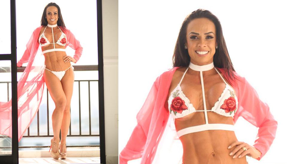 """Renata Spallicci, que sofria bullying na infância, hoje é chamada de """"Executiva Sarada"""" por seu corpo impecável"""