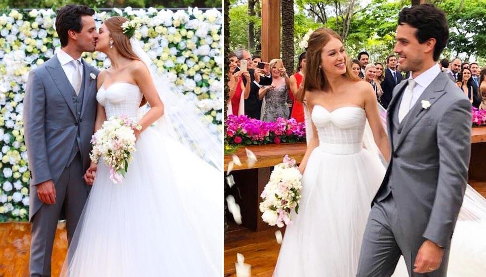 Marina Ruy Barbosa protagonizou o casamento mais falado do ano. A atriz selou a união com Xandinho Negrão com três celebrações. Em 7 de outubro, ela fez a festa para 800 convidados e se casou com vestido Dolce e Gabbana em Campinas