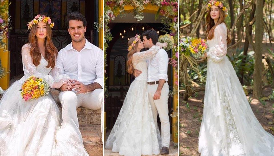 Antes, Marina e Xandinho fizeram uma outra cerimônia, numa capela em Goiânia. Nesta, apenas familiares estiveram presentes