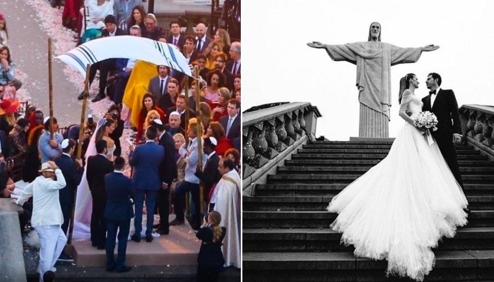 Outro casamento que parou o Rio de Janeiro foi o da modelo brasileira Michelle Alves com Guy Oseary. Eles se casaram no Cristo Redentor, em outubro, e tiveram como convidados celebridades internacionais como Ashton Kutcher e Madonna