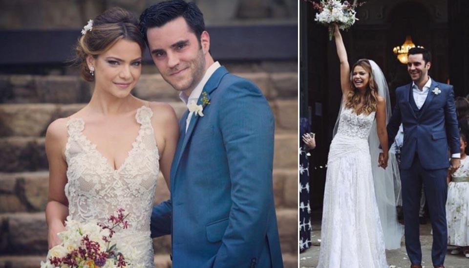 O casamento da atriz Milena Toscano e Pedro Alcantara Ozores foi realizado em Paraty (RJ), em novembro