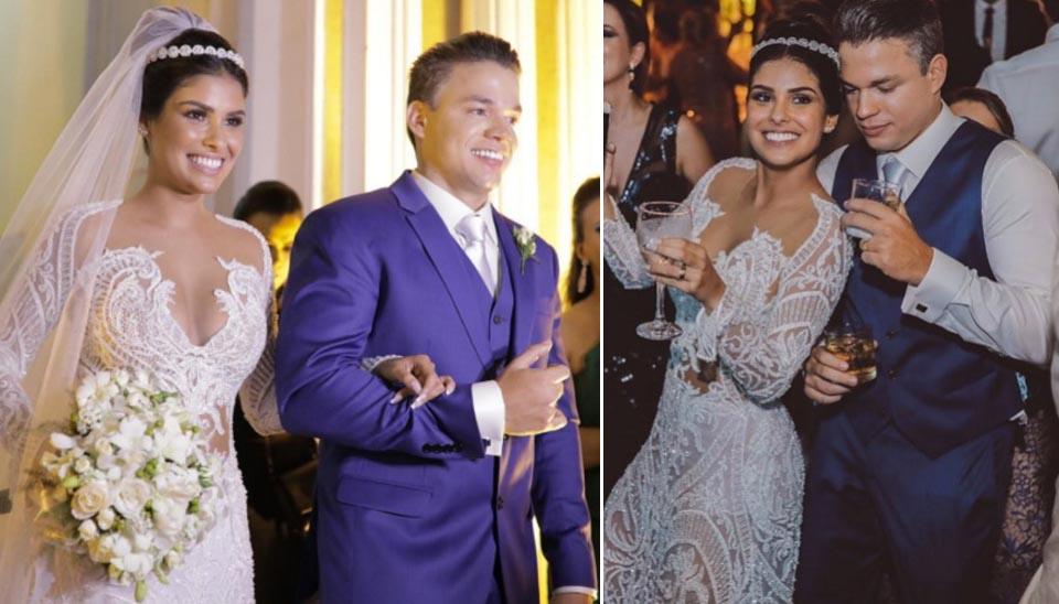 Campeã do BBB 16, Munik Nunes se casou em Fortaleza com o empresário Anderson Felício em outubro. O vestido da noiva rendeu muitos elogios na internet