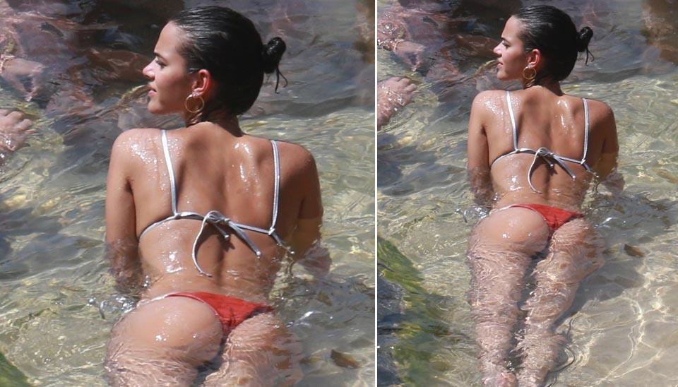 Bruna Marquezine aproveitou os dias de sol para se bronzear em Fernando de Noronha. Com biquíni do estilo cortininha, a namorada de Neymar exibiu as belas curvas