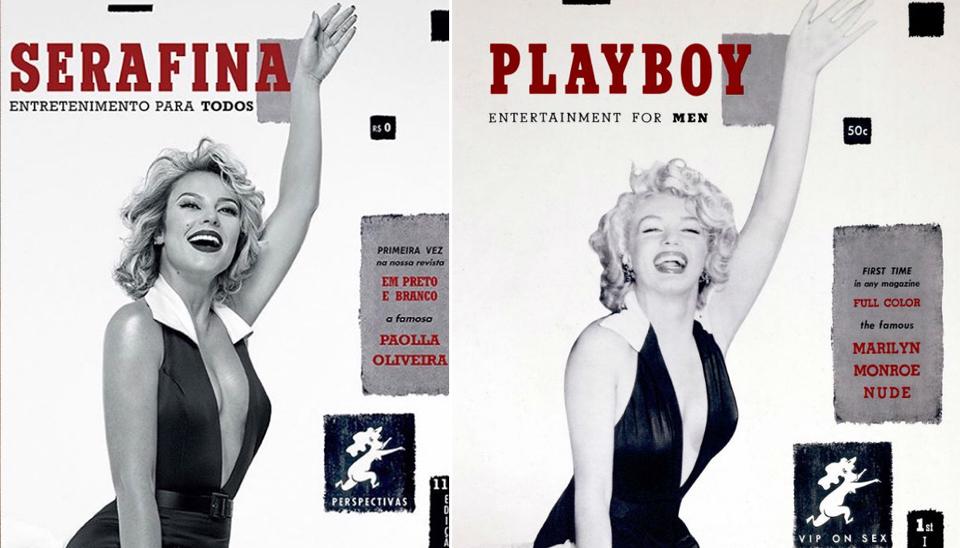 Paolla Oliveira brilhou como Marilyn Monroe na revista Playboy