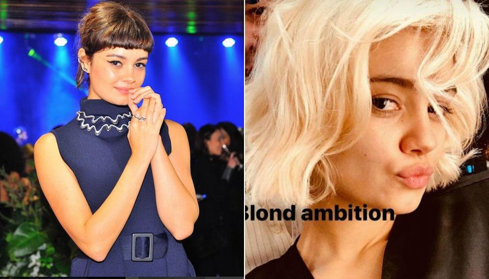 """No fim do ano passado, logo após o fim das gravações de """"Os Dias Eram Assim"""", Sophie Charlotte também radicalizou e clareou a cabeleira para valer. """"Ambição loira"""", brincou ao mostrar resultado"""