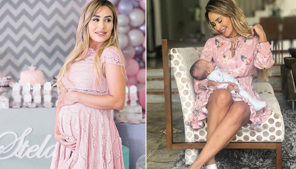 A ex-BBB Letícia Santiago deu à luz Stela em setembro deste ano, em uma maternidade em Belo Horizonte (MG). A criança nasceu de parto natural.