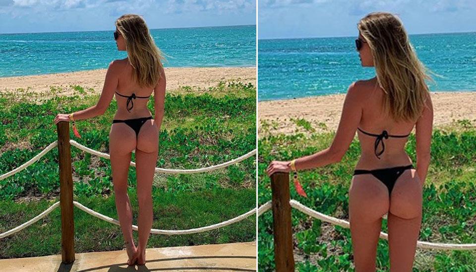 Ela curtiu o Réveillon em Pernambuco ao lado do namorado, o empresário Gustavo Theodoro