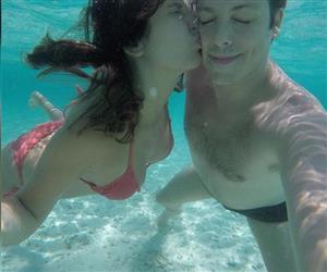 Fábio Porchat e Nataly Mega curtem viagem de lua de mel nas Ilhas Maldivas