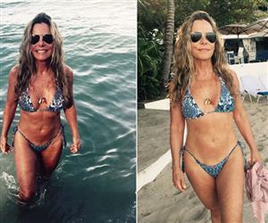 Bruna Lombardi abre álbum de viagens e mostra boa forma aos 65 anos