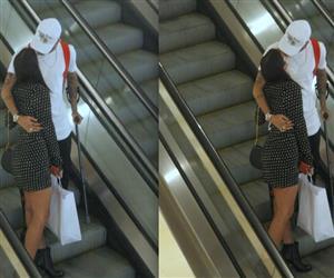 Bruna Marquezine e Neymar trocam beijos durante passeio em shopping no RJ