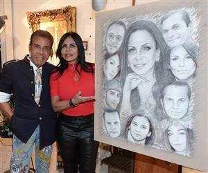 Gretchen ganha quadro feito por artista plástico em sua homenagem
