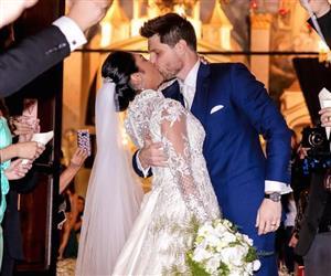 Ex-BBB Amanda Djehdian se casa com o empresário Mateus Hoffmann em SP
