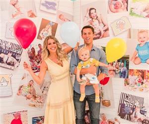 Karina Bacchi faz festa temática para celebrar um ano do filho Enrico