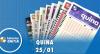 Resultado da Quina - Concurso nº 5180 - 25/01/2020