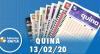 Resultado da Quina - Concurso nº 5196 - 13/02/2020