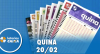 Resultado da Quina - Concurso nº 5202 - 20/02/2020