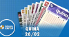 Resultado da Quina - Concurso nº 5205 - 26/02/2020
