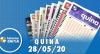 Resultado da Quina - Concurso nº 5281 - 28/05/2020