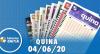 Resultado da Quina - Concurso nº 5287 - 04/06/2020