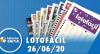 Resultado Lotofácil - Concurso nº 1985 - 26/06/2020