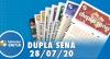 Resultado da Dupla Sena - Concurso nº 2110 - 28/07/2020