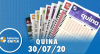 Resultado da Quina - Concurso nº 5327 - 30/07/2020