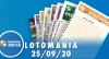 Resultado da Lotomania - Concurso nº 2112 - 25/09/2020
