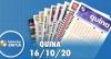 Resultado da Quina - Concurso nº 5392 - 16/10/2020