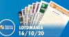 Resultado da Lotomania - Concurso nº 2118 - 16/10/2020
