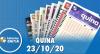 Resultado da Quina - Concurso nº 5398 - 23/10/2020