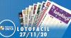 Resultado da Lotofácil - Concurso nº 2093 - 27/11/2020