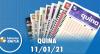Resultado da Quina - Concurso nº 5463 - 11/01/2021