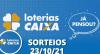 Loterias CAIXA: Mega Sena, Quina, Lotofácil e mais 23/10/2021
