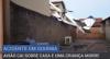 Bebê morre após queda de avião sobre casa em Goiás
