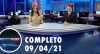 Assista à íntegra do RedeTV News de 09 de abril de 2021