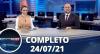 Assista à íntegra do RedeTV News de 24 de julho de 2021