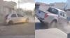 Homem bate em muro de casa durante fuga | Dupla capota carro roubado