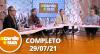 A Tarde é Sua (29/07/21) | Completo
