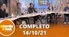 A Tarde é Sua (14/10/21) | Completo