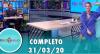 Tricotando (31/03/2020) | Completo