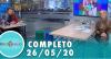 Tricotando (26/05/2020) | Completo