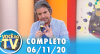 Você na TV (06/11/20) | Completo