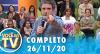 Você na TV (26/11/20) | Completo