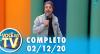 Você na TV (02/12/20) | Completo