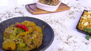 Convidada de Edu Guedes ensina a preparar receitas baianas