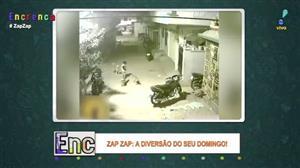 Três cachorros cercam menino na rua e ele mostra coragem