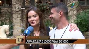 Laura Keller e Jorge Sousa falam sobre ensaio picante