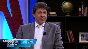 """Fernando Haddad é convidado do """"Mariana Godoy Entrevista"""" desta sexta (20)"""